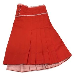 Marc Jacobs Skirts - Marc Jacobs Orange Pleated Mini Skirt